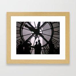 TIME WAITS Framed Art Print