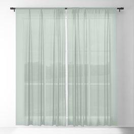 Sage Green Sheer Curtain