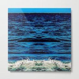 MorningWalks Ocean Waves  Metal Print