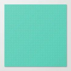 Mint spots pattern Canvas Print