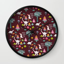 Jellosaurus Rex: Jello Dino Party Wall Clock