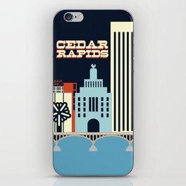Cedar Rapids, Iowa Skyline iPhone Skin