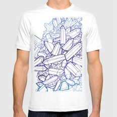 Crystals MEDIUM White Mens Fitted Tee