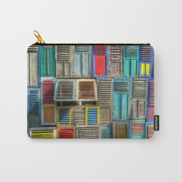 Colorful Shutters Beach Building Carry-All Pouch
