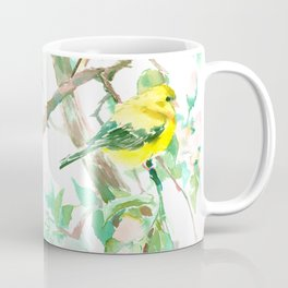American Goldfinch and Apple Blossom Coffee Mug