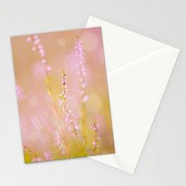 Subtle pink heather macro Stationery Cards