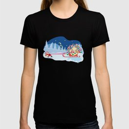 Santa Claus and reindeers T-shirt