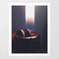 Macro Flame Art Print