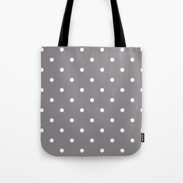 Dots Taupe Tote Bag