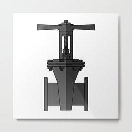 Gate valve in beautiful design Fashion Modern Style Metal Print