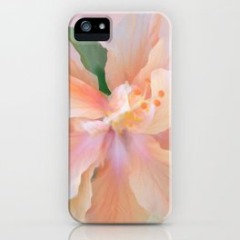 PEACH HIBISCUS iPhone Case