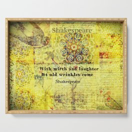 Shakespeare old age funny humorous quote Serving Tray