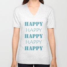 Happy, Happy Unisex V-Neck