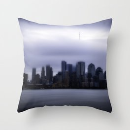 Moody city Throw Pillow