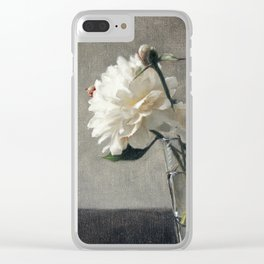 Peonies in Glass Clear iPhone Case