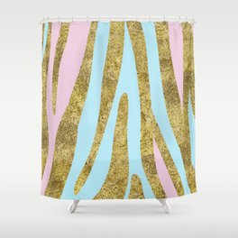 Golden exotics - bright pastels Shower Curtain