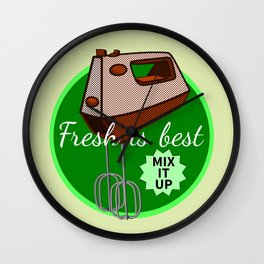 Foodie Mix it up Wall Clock