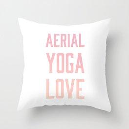 aerial yoga love // pink & orange Throw Pillow