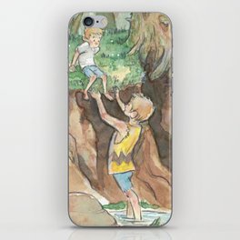 Woodland Wanderers: Brothers iPhone Skin