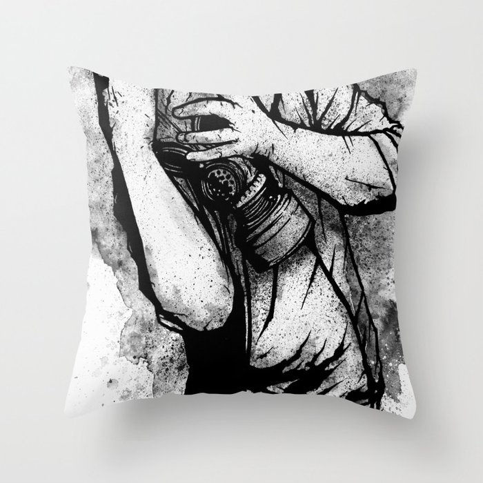 Drifting Shadows Throw Pillow