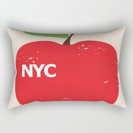 NYC Airliner poster Rectangular Pillow