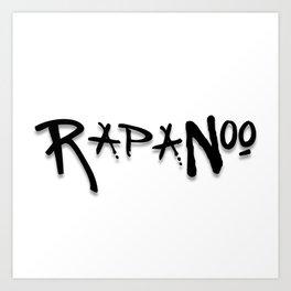Rapanoo - Black Art Print