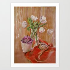 White tulips_2 Art Print