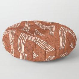 Birch in Rust Floor Pillow