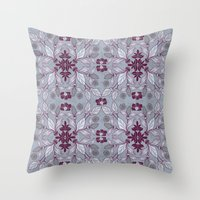 hibiscus Throw Pillows featuring Hibiscus by Azulblau