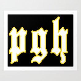 pgh Art Print