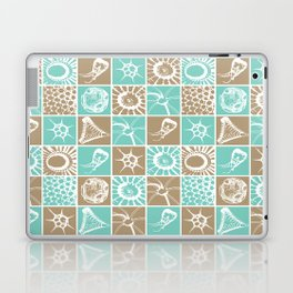 Microscopic Life Sillouetts Blue and Taupe Laptop & iPad Skin