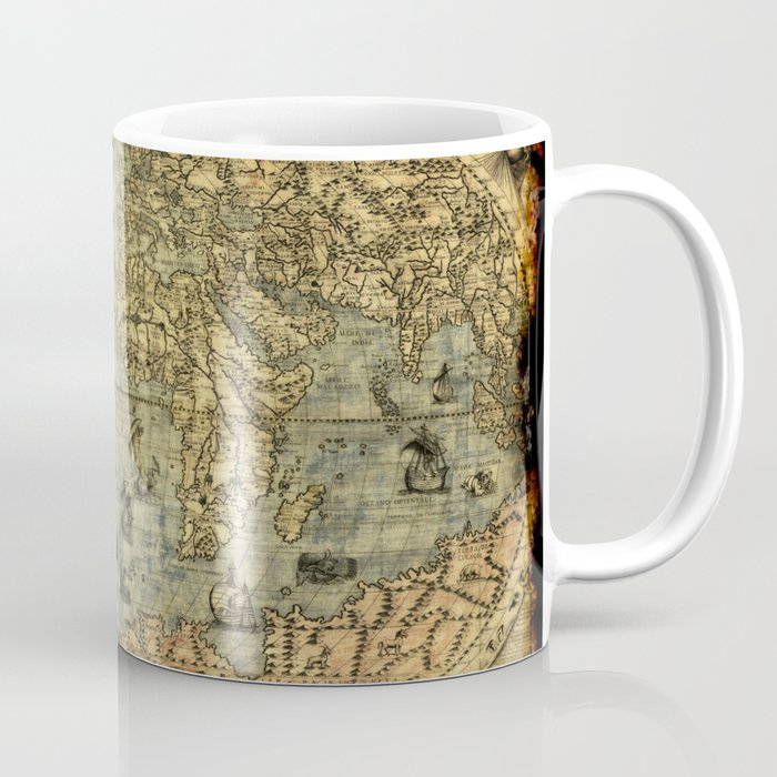 Vintage Old World Map Coffee Mug By Onlinegifts Society6
