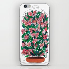 """Capacity""/Lathyrus odoratus - part of the Bell Jar series iPhone Skin"