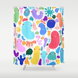 Bacterial world Shower Curtain