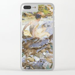 Mountain Stream by John Singer Sargent,1912 Clear iPhone Case