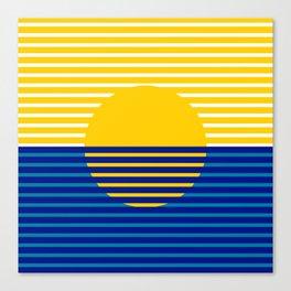 Yellow Split Sun Canvas Print