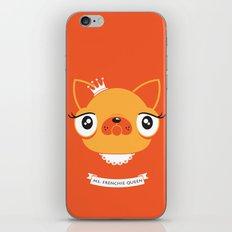 Ms. Frenchie Queen iPhone & iPod Skin