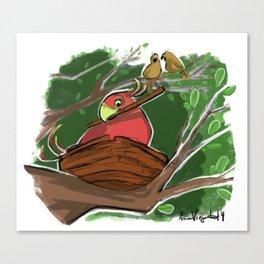 Cinnamon Bird Canvas Print