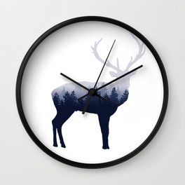 Forest Stag Wall Clock