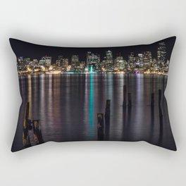 Seattle At Night Rectangular Pillow