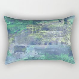 Icy - Abstract in Blue And White Rectangular Pillow
