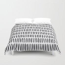 Classy Handpainted Stripes Pattern, Scandinavian Design Duvet Cover