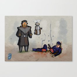 Use Verb on Noun #2: Beneath a Steel Sky Canvas Print