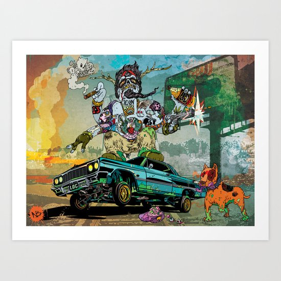 B-Side Low Ride Art Print