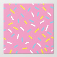 sprinkles Canvas Prints featuring Sprinkles by Diana Willett