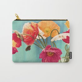 Bright Dancers - Vintage toned poppy flower still life Carry-All Pouch