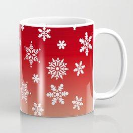 Snow Flurries-Red/Cream Ombre Coffee Mug
