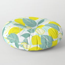 Lemons and Slices Floor Pillow
