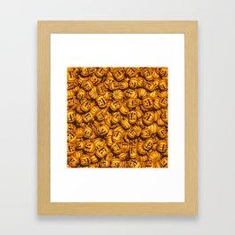 Halloween Pumpkins Pattern Framed Art Print