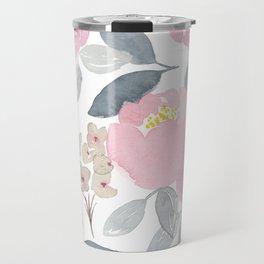 Flowers in Pink Travel Mug